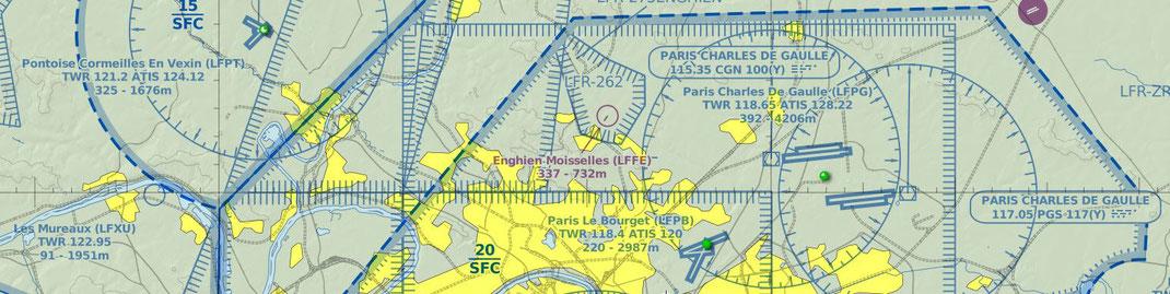 Les aéroports au nord de Paris