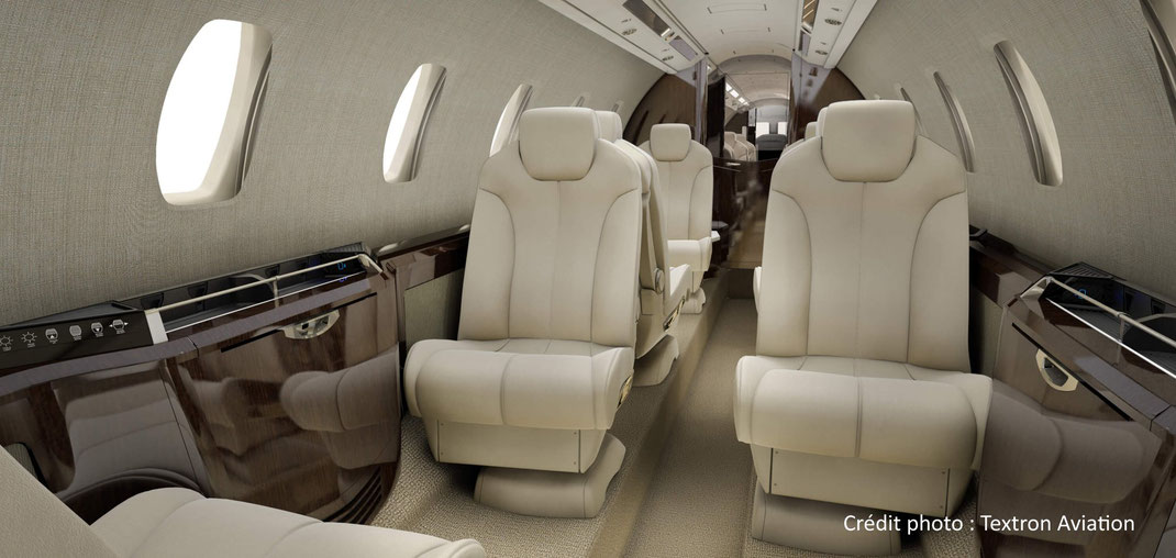 Cabine du Cessna Citation Sovereign+