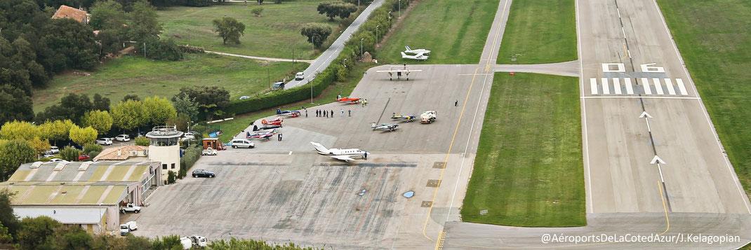 Vue aérienne de l'Aéroport de La Mole St Tropez