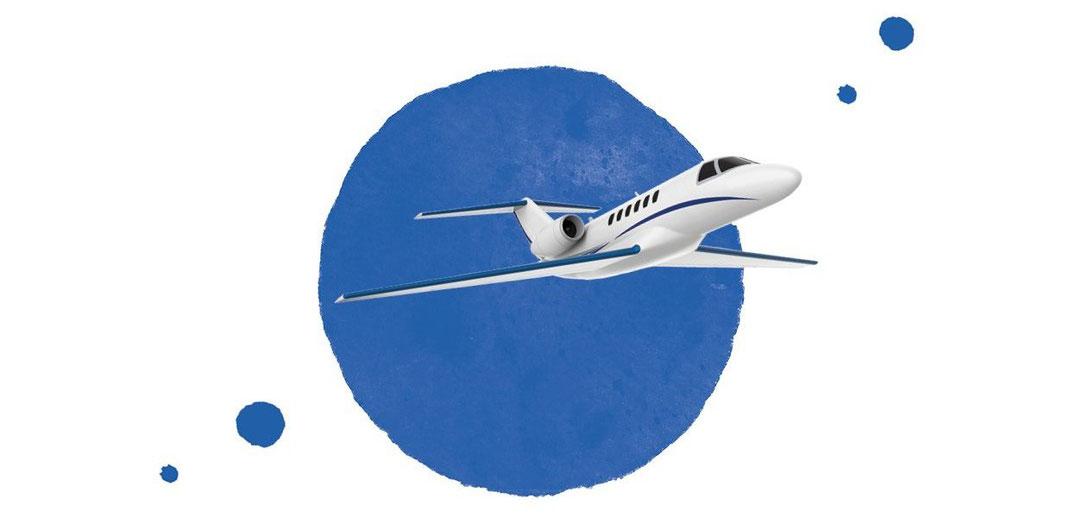 jet privé ou avion d'affaires prêt à partir