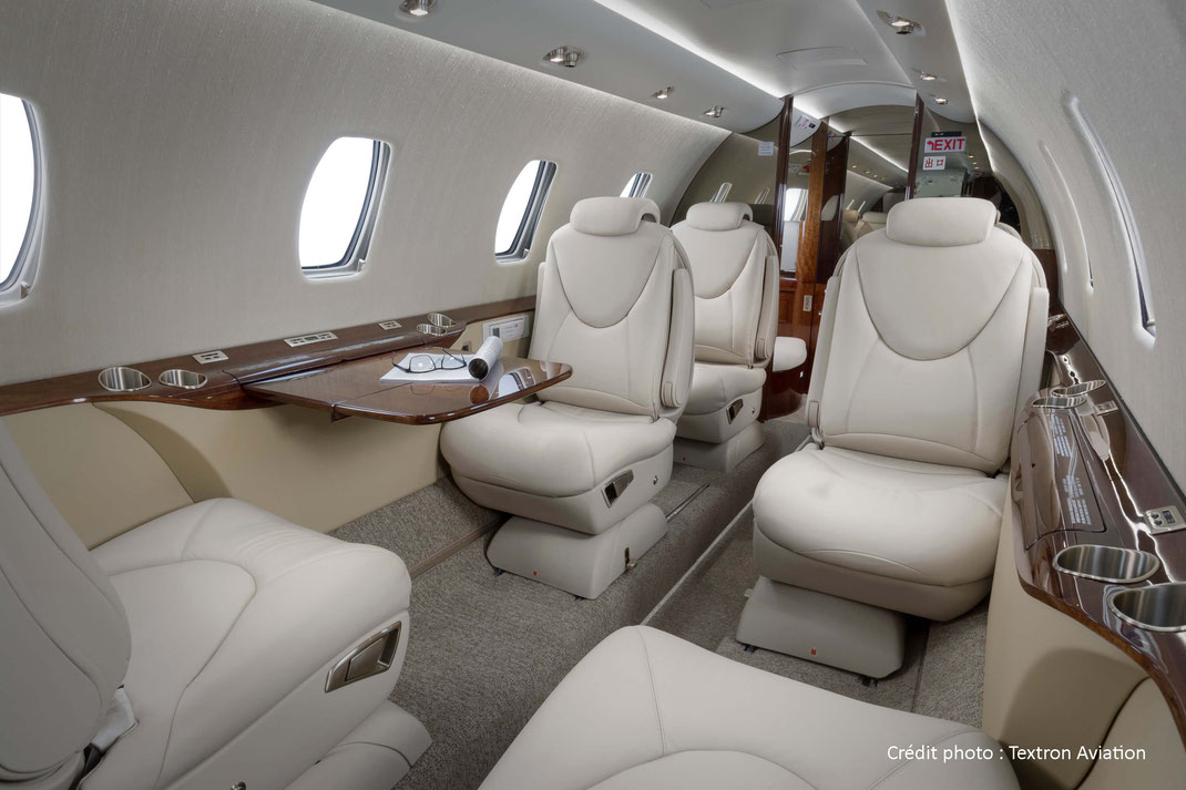 Cabine du Cessna Citation XLS+