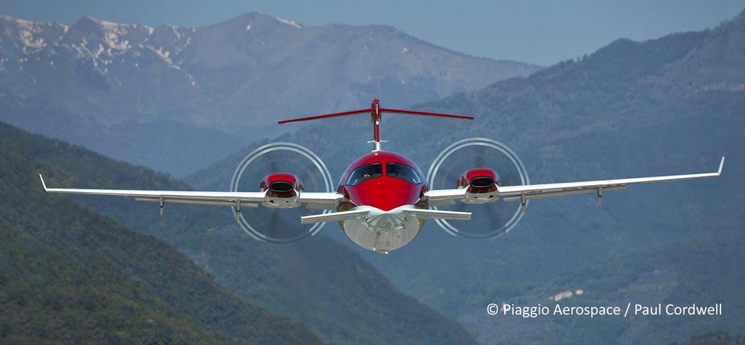 Piaggio Avanti EVO, champion de la location de jet privé