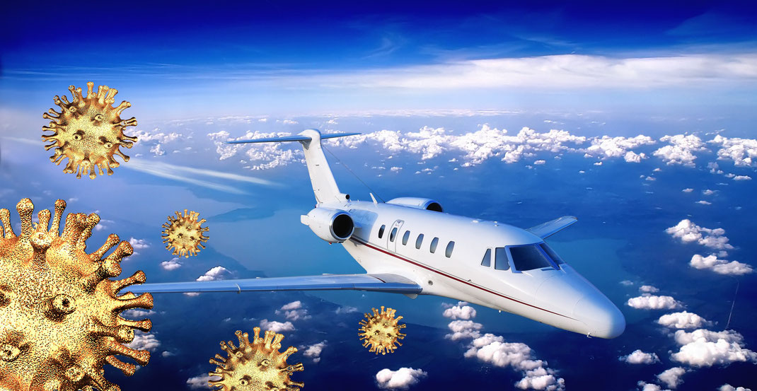 Les vols en jet privé pendant l'épidémie du coronavirus covid-19