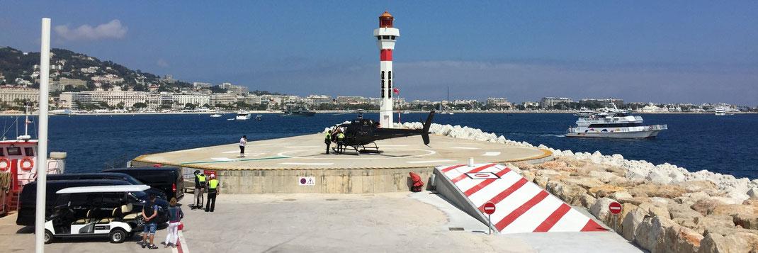 L'hélistation de Cannes vous donne accès à toute la Côte d'Azur mais également à la Corse et l'Italie.