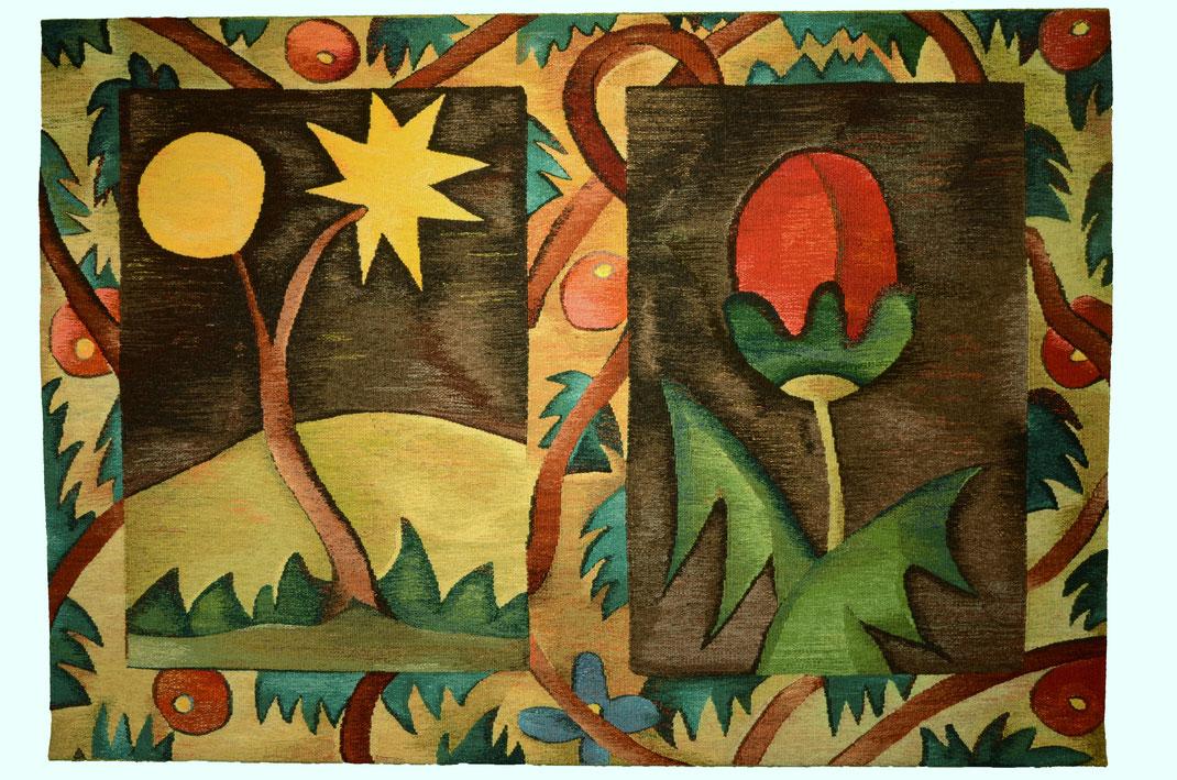 """""""Rote Blume"""" - 150 x 115 cm"""