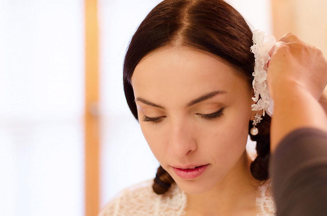 Brautstyling und Styling von Brautmoden Tegernsee.
