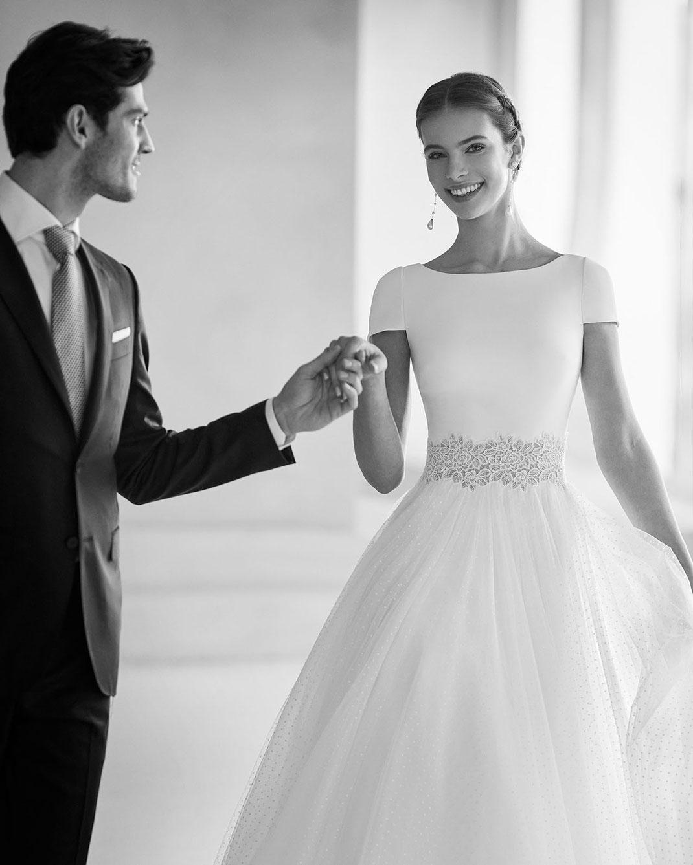 Brautkleid Bahia aus der Rosa Clará Couture Kollektion 2022 erhältlich bei Brautmoden Tegernsee