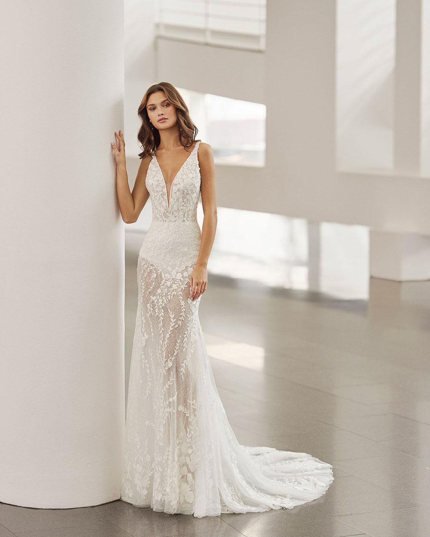 Brautkleider der Rosa Clará Kollektion 2022 erhältlich bei Brautmoden Tegernsee