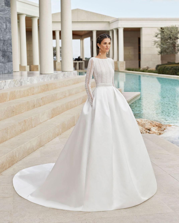 Brautkleid im Duchesse Stil von Rosa Clará Couture