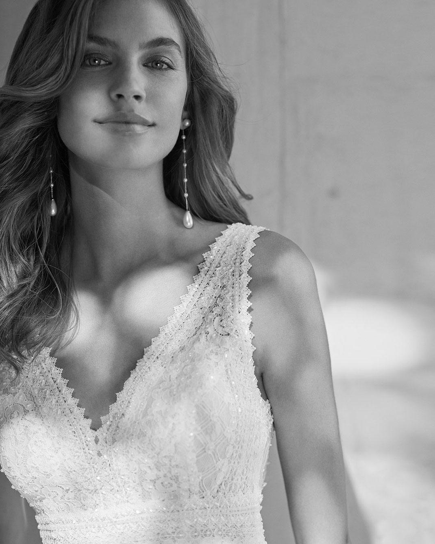 Brautkleid Gambia aus der Rosa Clará Soft Kollektion 2022 erhältlich bei Brautmoden Tegernsee