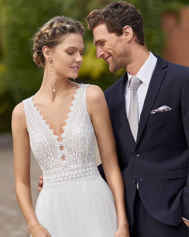 Brautkleid Mila aus der Alma Novia Kollektion 2022 erhältlich bei Brautmoden Tegernsee