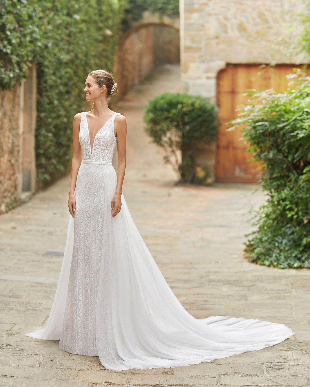 Brautkleid Menara aus der Alma Novia Kollektion 2022 erhältlich bei Brautmoden Tegernsee