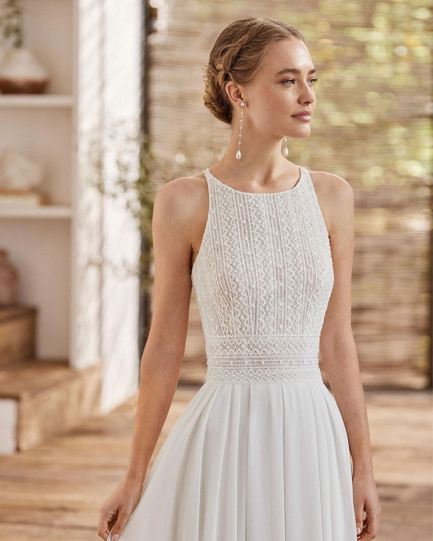 Boho Brautkleid Lidia aus der Rosa Clará Boheme Kollektion 2022 erhältlich bei Brautmoden Tegernsee
