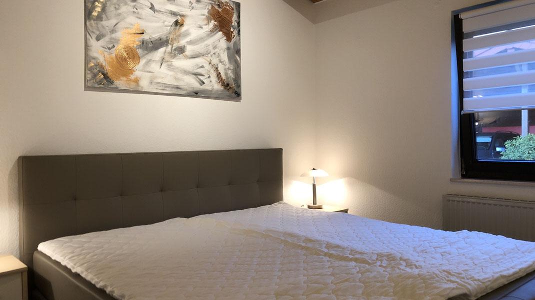 Ferienhaus Scholle F3 -Elternschlafzimmer-