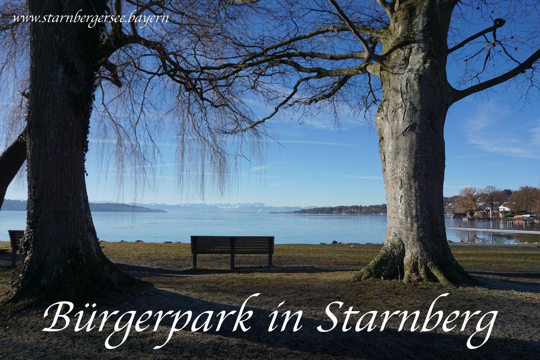 Bürgerpark Starnberg am Starnbergersee in Bayern