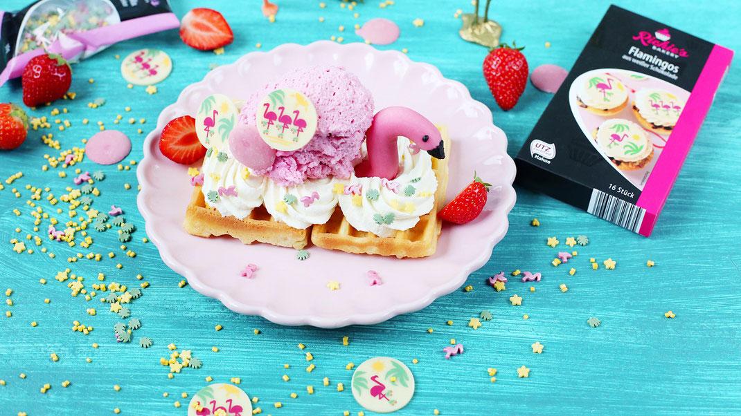 Erdbeer-Waffel-Eis
