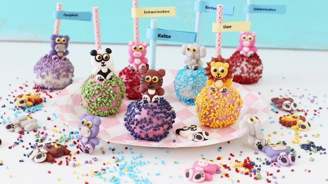 Richie's Bakery; Backen; Dekorieren; Zuckerfiguren, Lustige Tiere, Glitzer Cubies, Backideen für Kinder