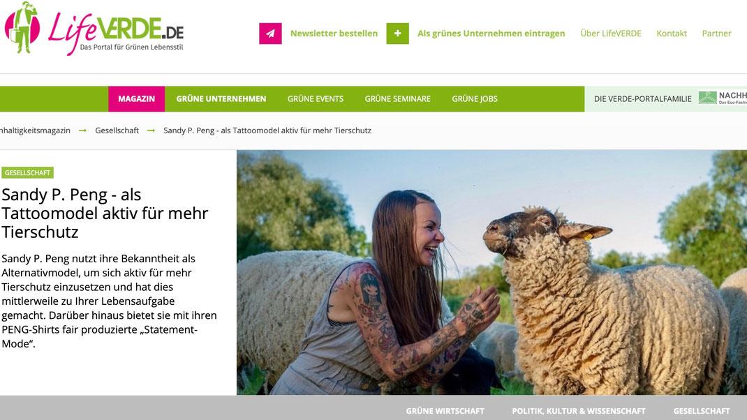 Interview mit Lifeverde.de, Das Portal für Grünen Lebensstil - Sandy P.Peng