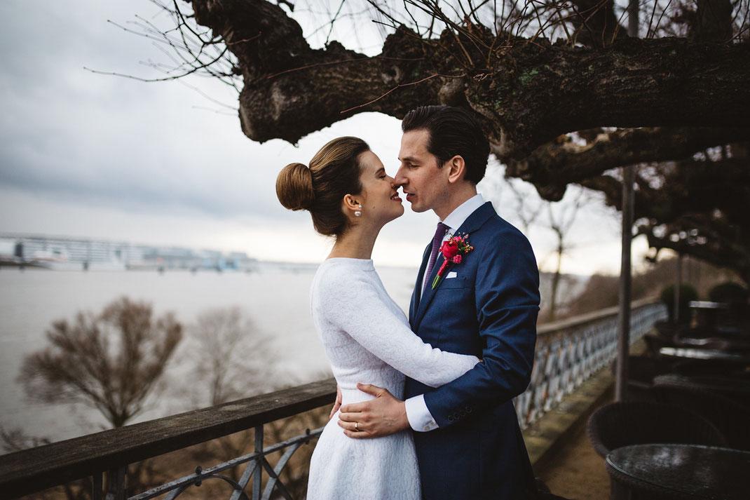 Paarfoto Hochzeit Hochzeitsfotografin Hamburg