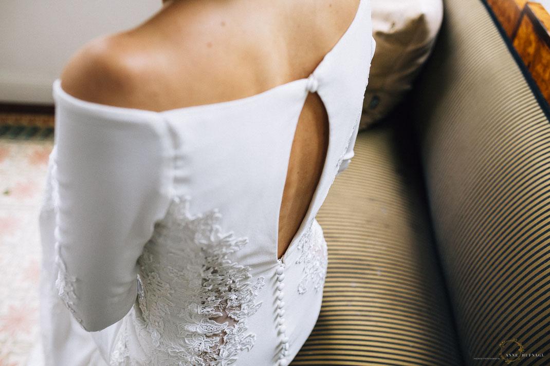 Vintage-Brautkleid mit tollem Rückenausschnitt