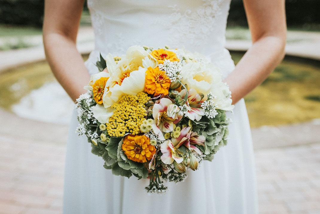 Brautstrauß aus einer Hochzeitsreportage von Fotografin Anne Hufnagl