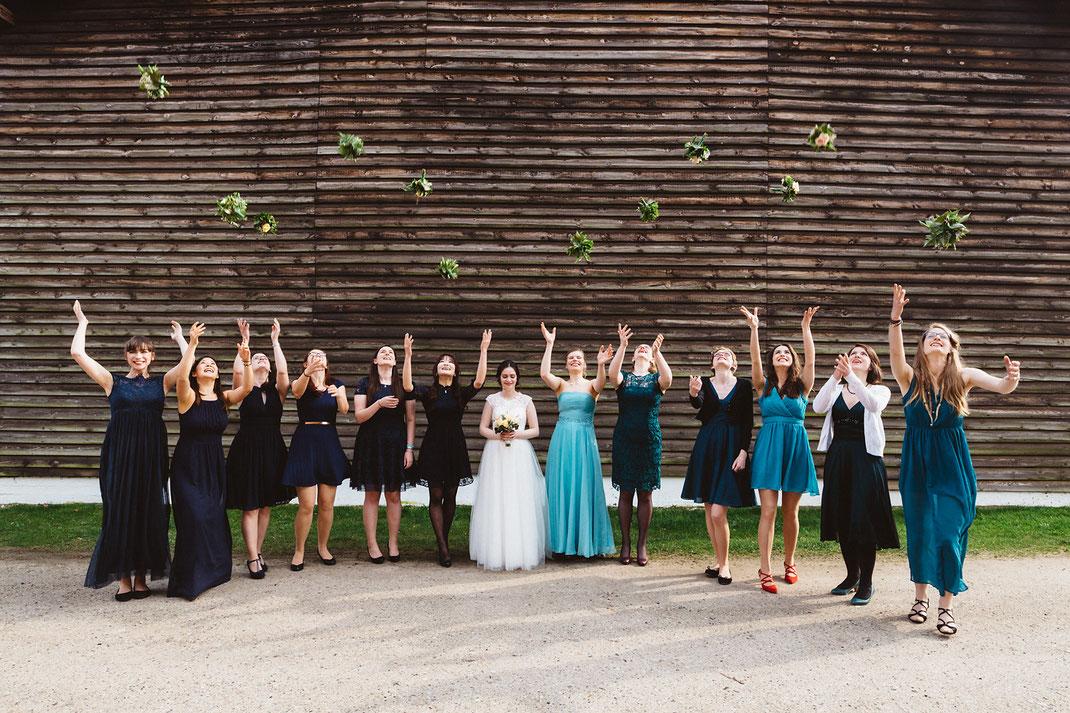 Gruppenfoto Brautjungfern Idee
