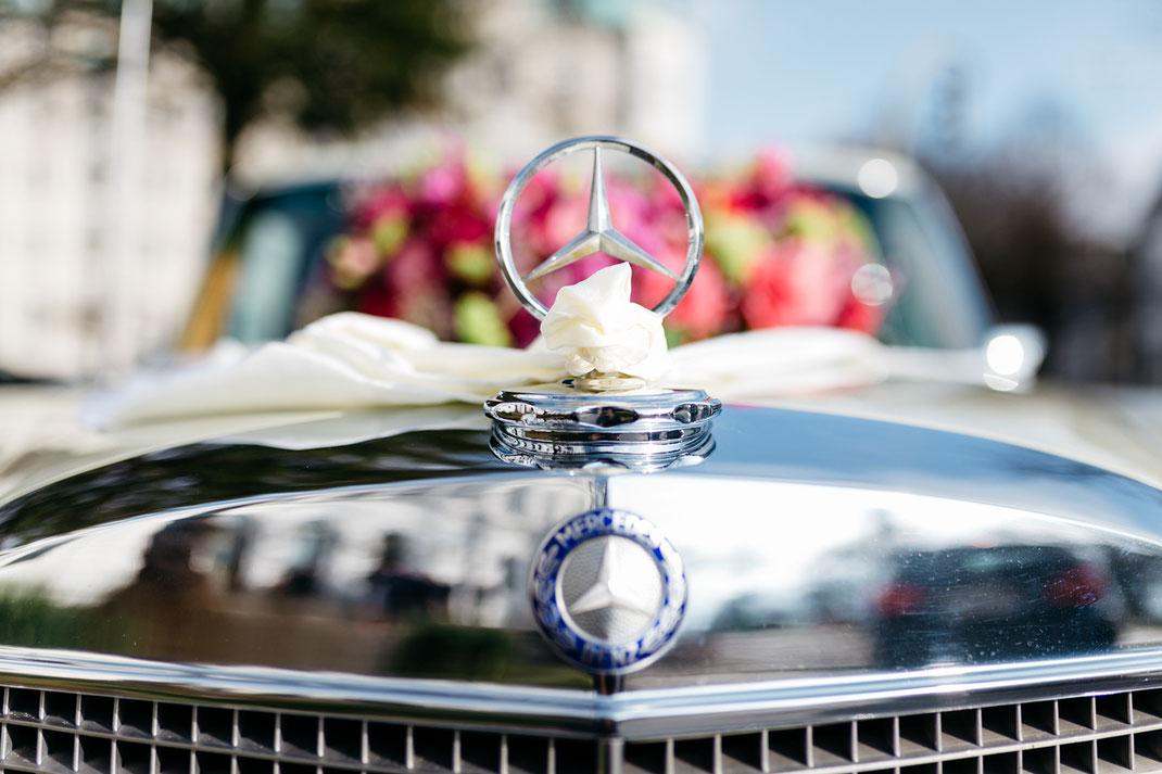 Hochzeitsauto Mercedes Limousine