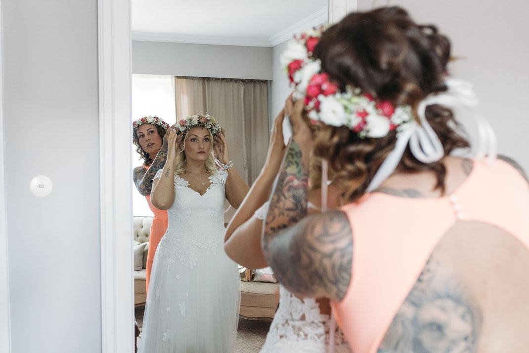Getting Ready Hochzeitsfotograf Hamburg Anne Hufnagl