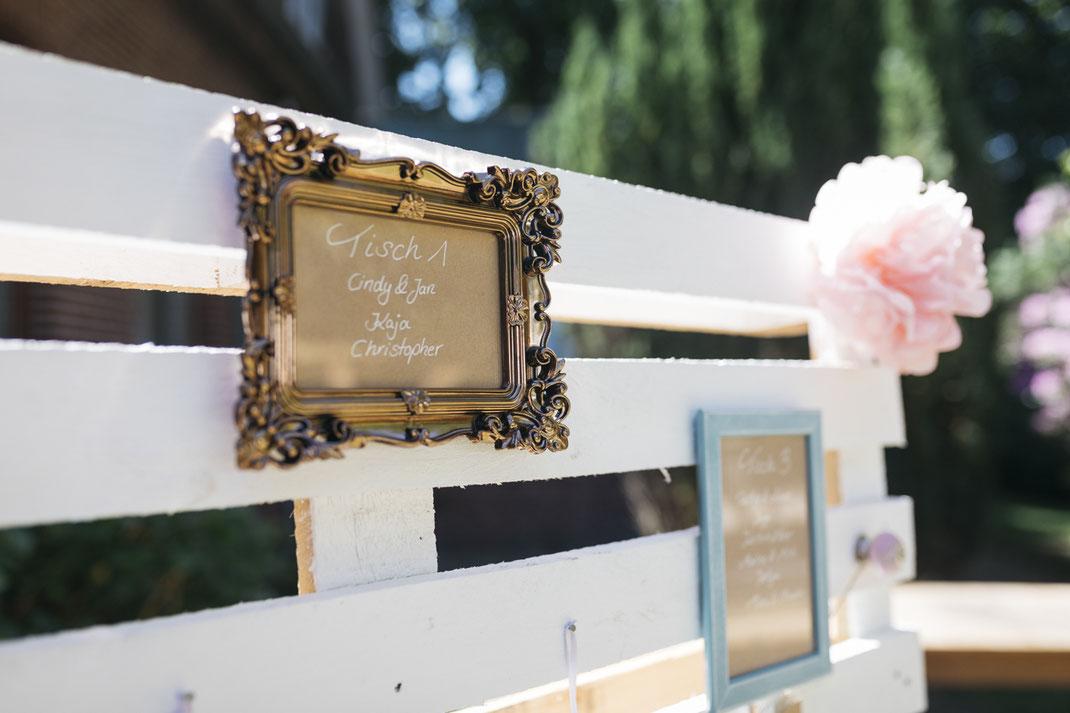 DIY Tischplan Hochzeit | Foto: Anne Hufnagl