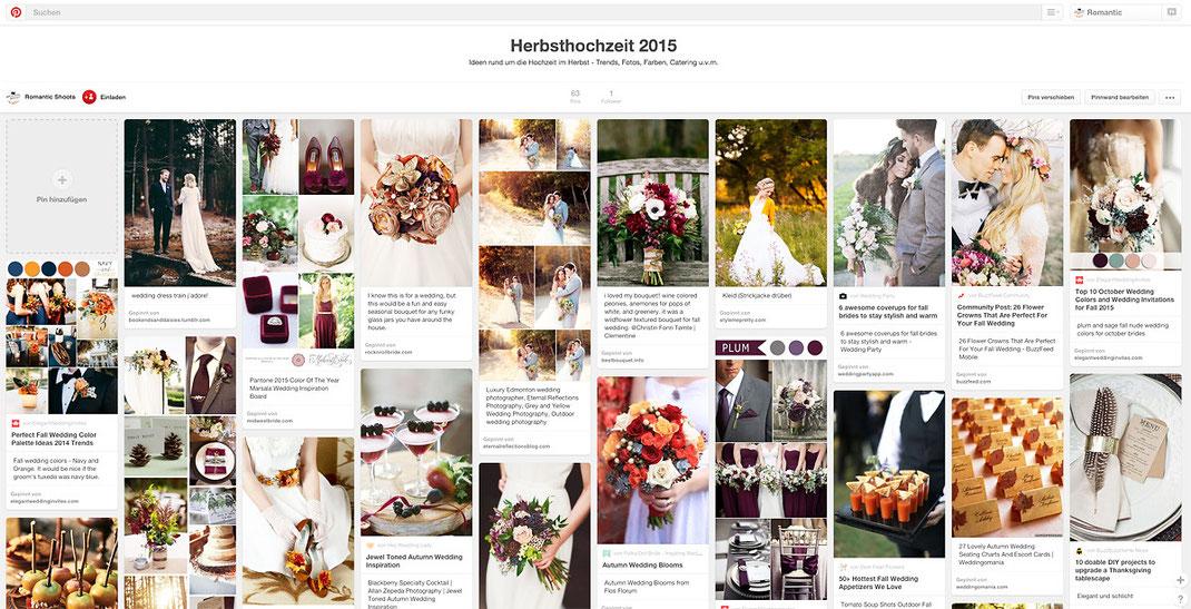 """Unser Album """"Herbsthochzeit"""" auf Pinterest"""