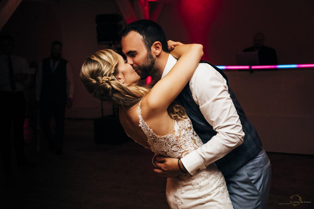 Foto Hochzeitstanz Kuss / Hochzeitsfotografin Anne Hufnagl