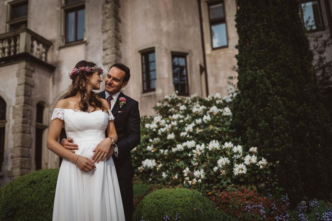 Paarfotos Brautpaar Schloss