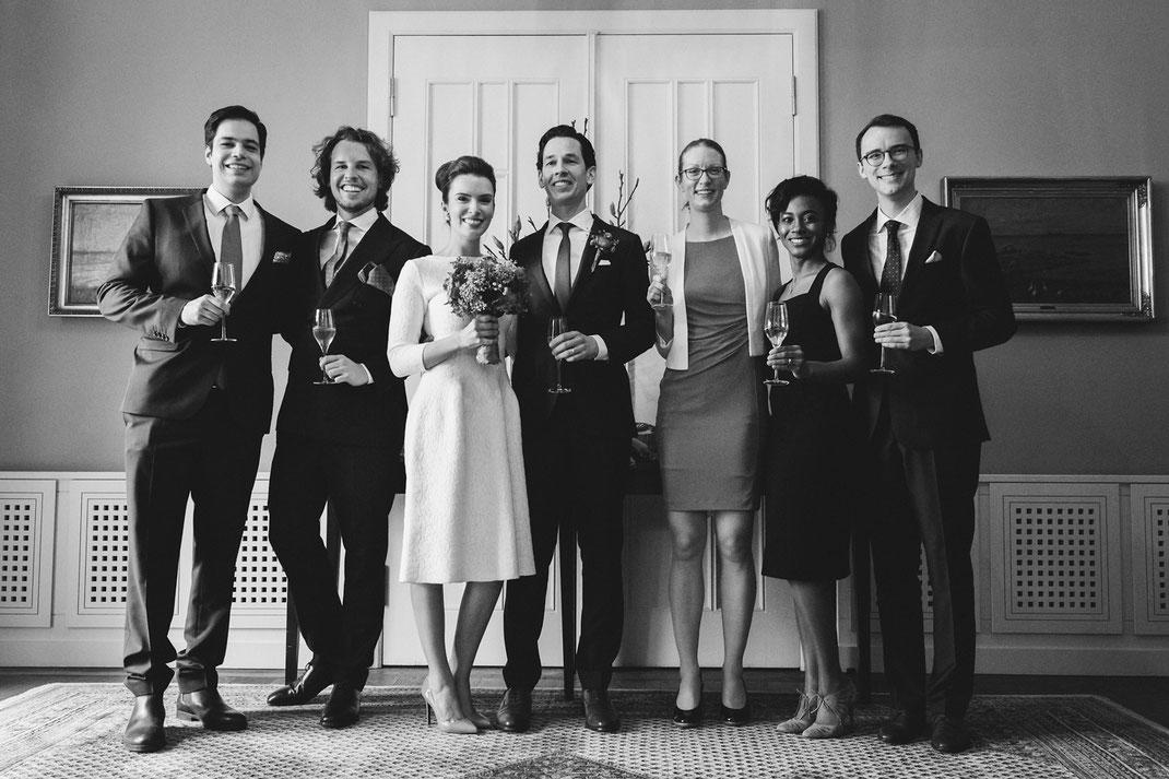 Gruppenfoto Hochzeit Hamburg