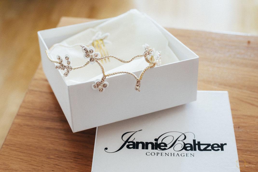 Headpiece für eine Braut zur Hochzeit von Jannie Baltzer
