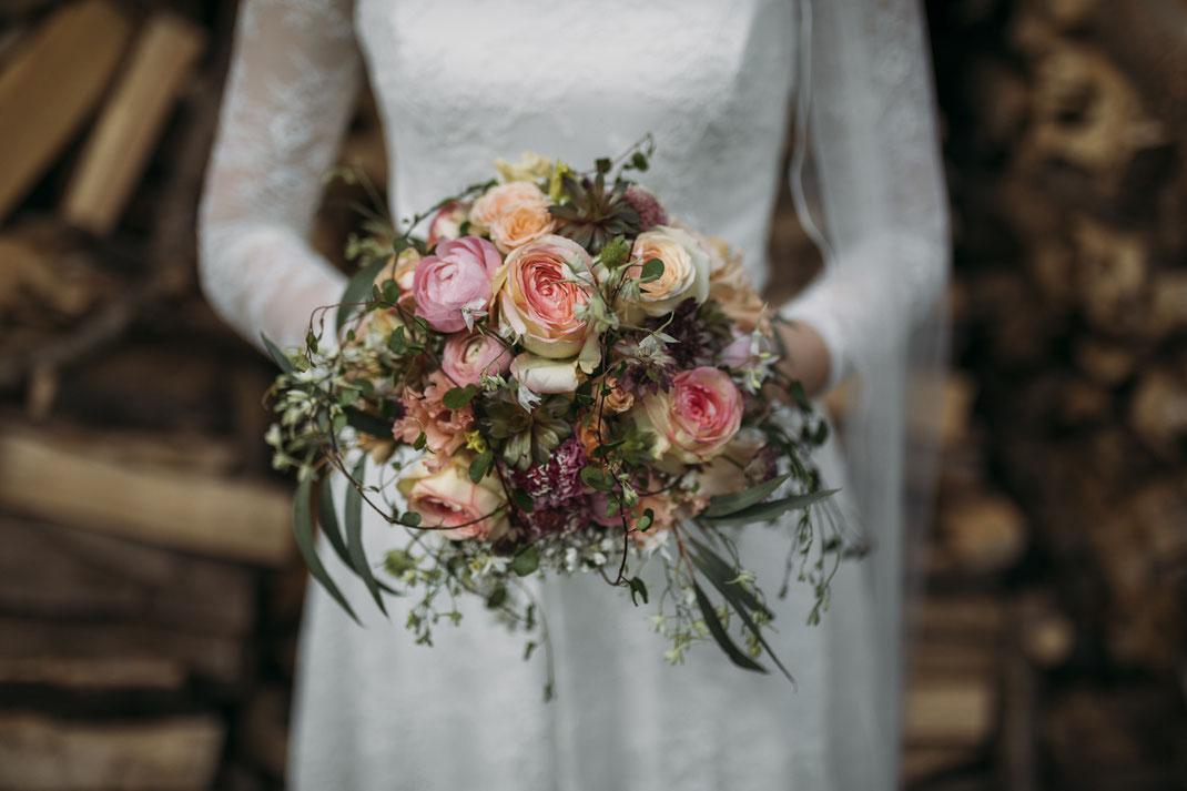 Brautstrauß vintage & natürlich | Foto von Anne Hufnagl