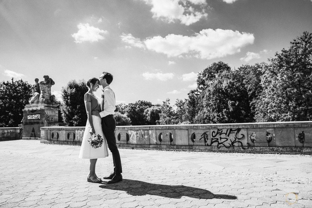 Brautpaar Fotos Berlin Schöneberg Schwarzweiß