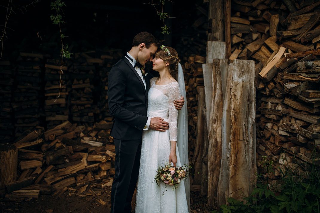 Paarfoto Waldhof Herrenland Hochzeit