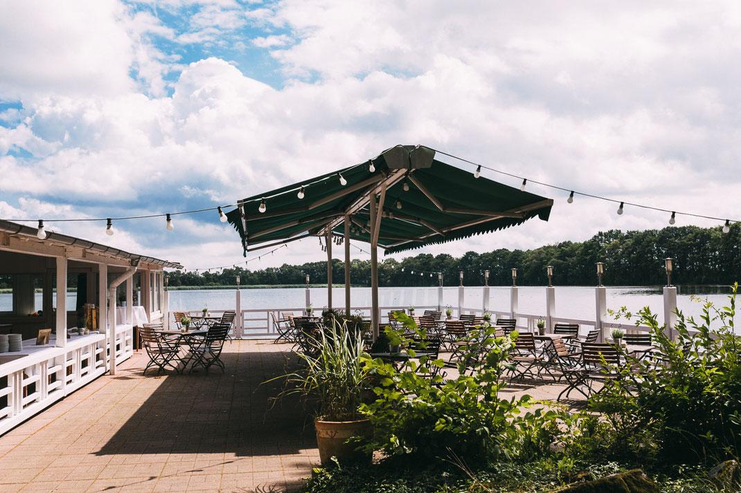 Seeterrasse Ringhotel Bokel-Mühle am See bei Hamburg
