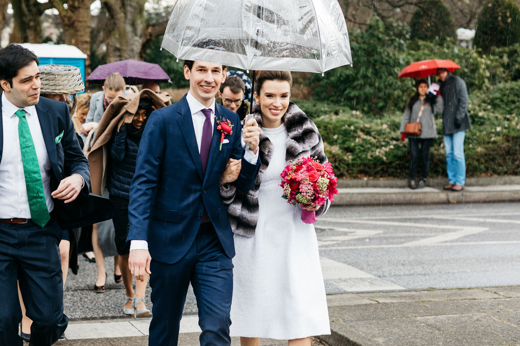 Hochzeitsfotos Regen Hamburg
