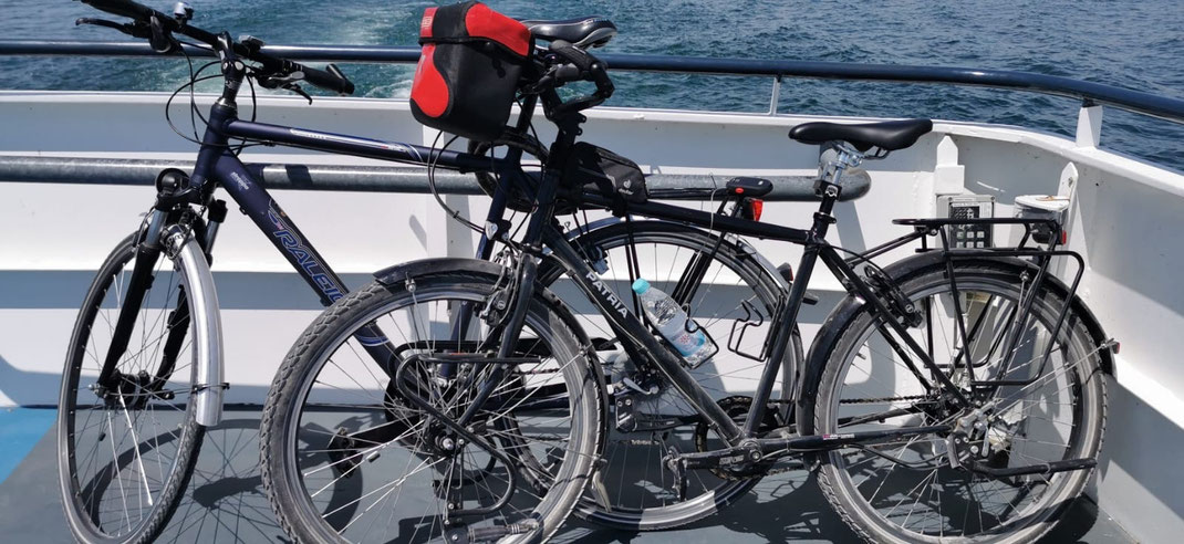 4 Fahrräder (2 EW und 2 Kinder) und Heckständer (für Anhängerkupplung) sind im Preis inklusive