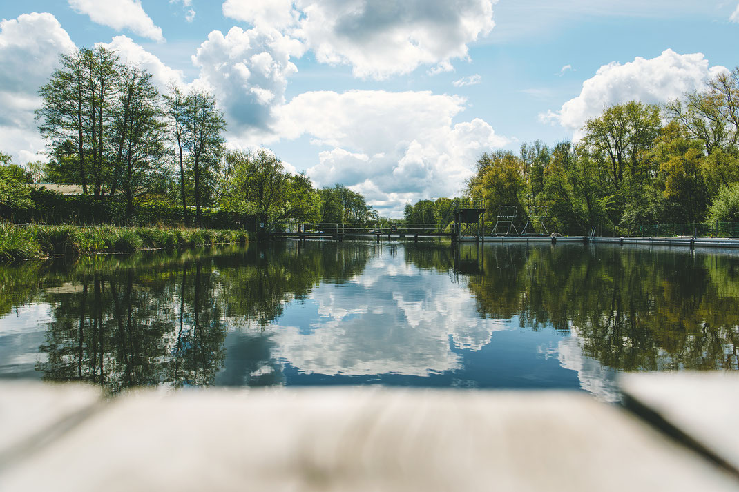 Ein 2021 entstandenes Bild aus dem Flussbad Rostock