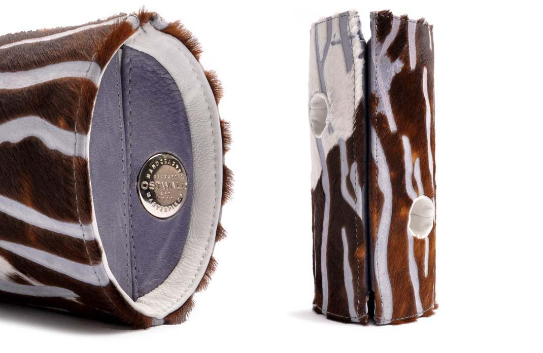 OSTWALD Bags . OSTWALD Art Couture .  Barrel Handbag . Handcrafted Leatherbag . multicolor Clutch . Slow fashion. Contemporary Clutch black . Unique Clutch .  Purse