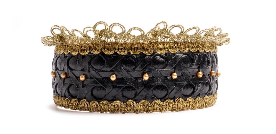 Headband Niely Hoetsch black & gold