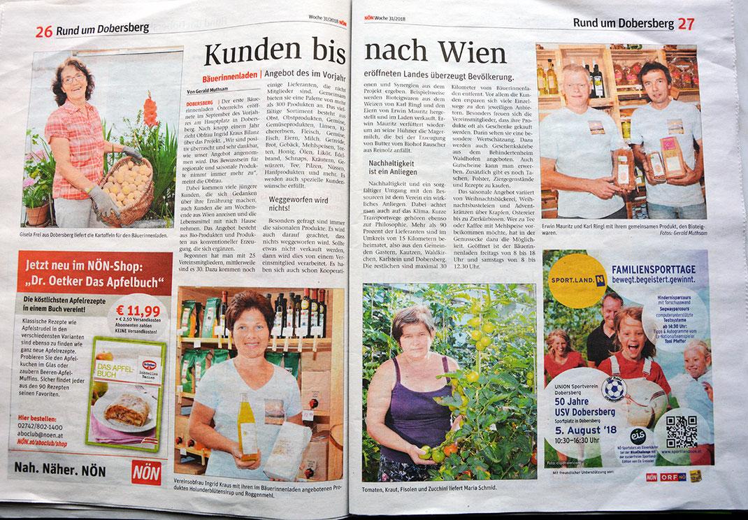 Bäuerinnenladen Dobersberg Bauernladen Schmankerl regionale Köstlichkeiten Direktvermarkter NÖN