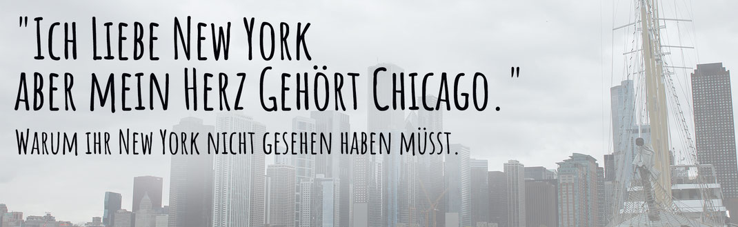Die Skyline von Chicago und warm Chicago besser ist als New York