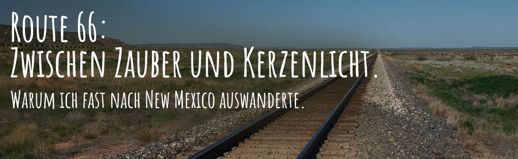 Weite Landschaft in New Mexico, Wüste, Steppe, Bahnlinien