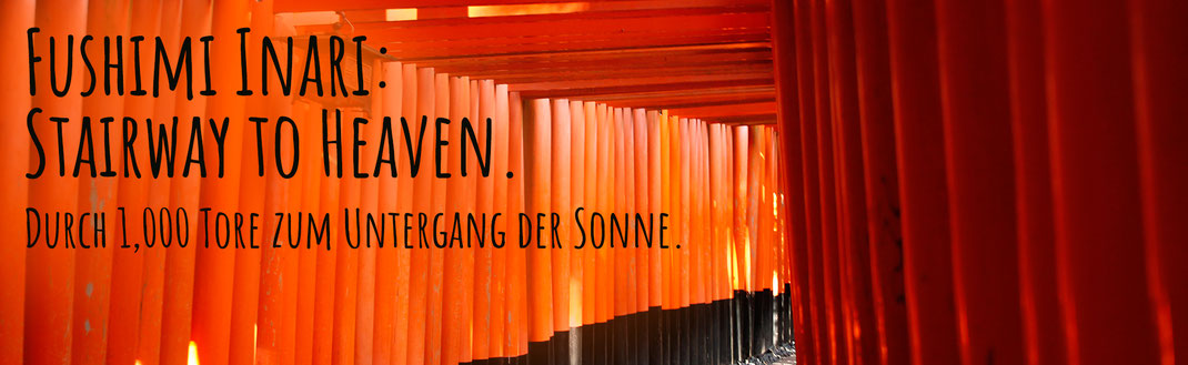 Fushimi Inari, rote Tore in Kyoto, Japan
