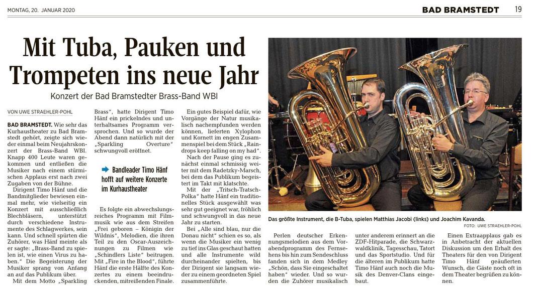 Brass Band WBI in Segeberger Zeitung