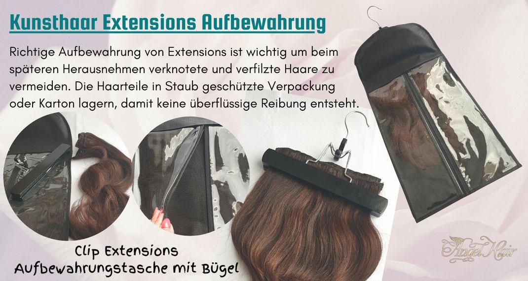 Haar extensions aufbewahrung clip in extensions tasche und staubschutz