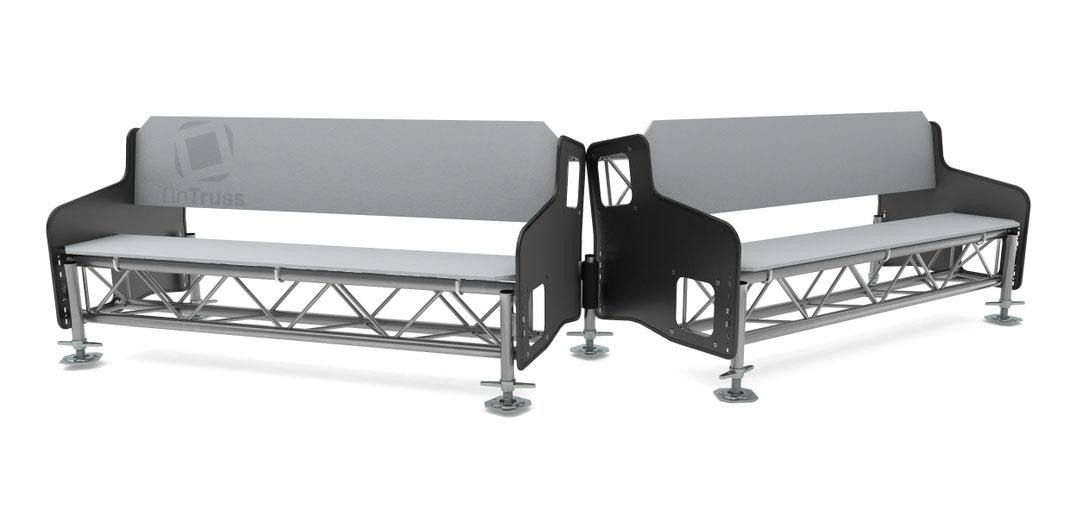OnTruss Siesta Sitzmöbel | Verbinde die Event-Couch in beliebiger Form miteinander.